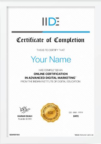 iide digital marketing certification bundle