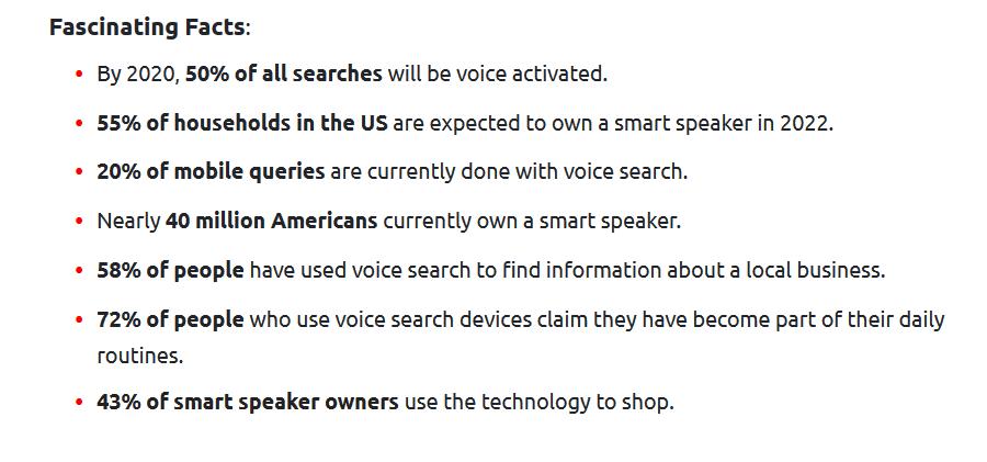 voice search optimization statistics 2021