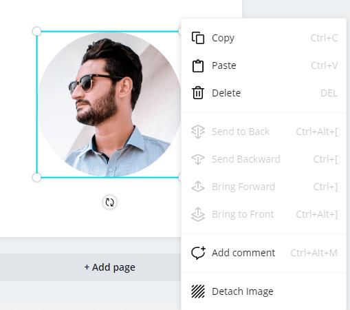 design tips in canva - detach image